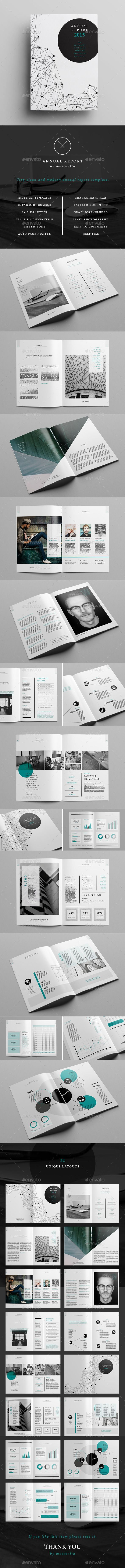 The Annual Report Template is perfect for the publication of a complete and professional annual report. It's divided into a first part with photos and narrative to provide all the interesting information about the company and a second part, contains the financial details with graphics for a visual result. Download: http://graphicriver.net/item/annual-report/11224010?ref=ksioks: