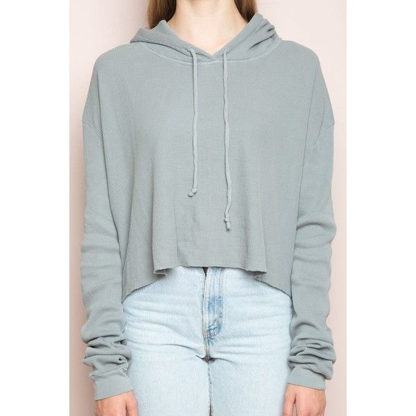 Lennon Thermal Hoodie ($38) ❤ liked on Polyvore featuring tops, hoodies, thermal hoodies, thermal hooded sweatshirt, patterned tops, thermal hoodie and print hoodie