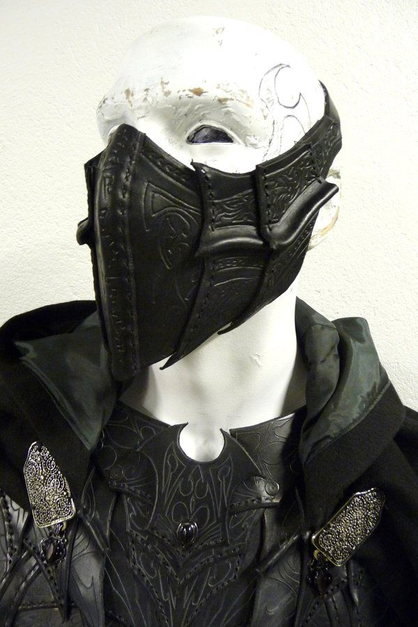 drow specialist assassin mask IRL. yeah, i would totally wear this. - again, by Sharpener at deviantART