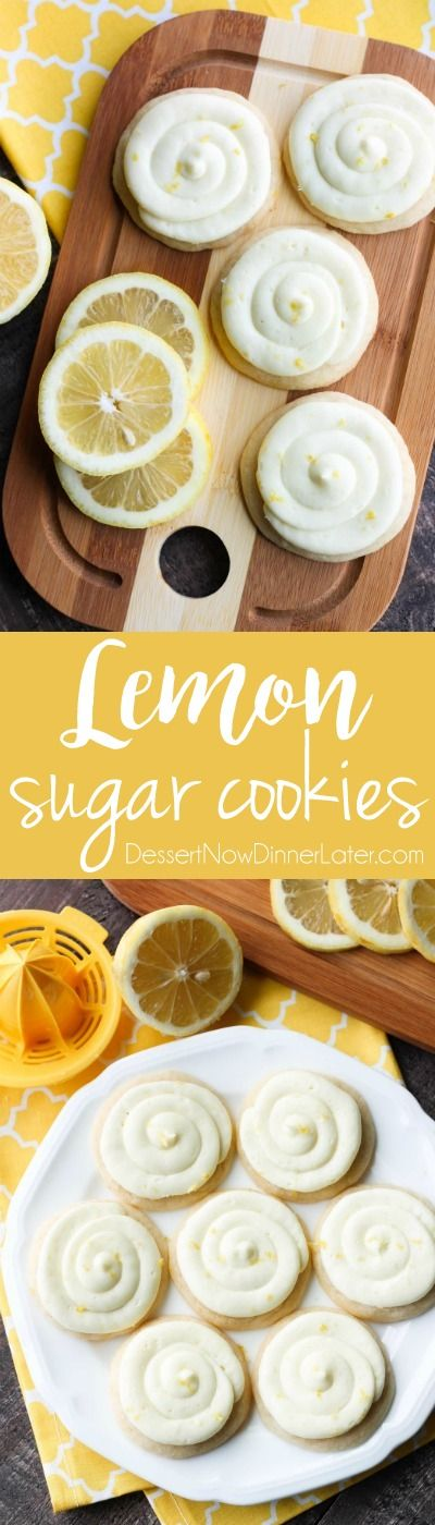Lemon Sugar Cookies are perfectly sweet and tangy with a lemon sugar cookie base and a lemon cream cheese frosting on top.