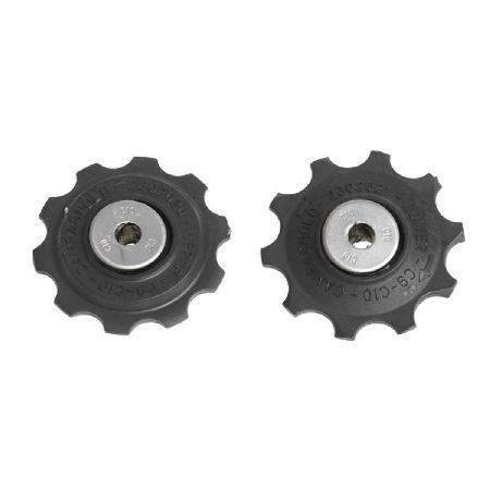 Campagnolo Chorus 11 Speed Jockey Wheel Set These are the official 11 speed jockey wheels for Campagnolo Chorus rear derailleur and a must have purchase to ensure your derailleur runs fast and effectively. http://www.MightGet.com/january-2017-11/campagnolo-chorus-11-speed-jockey-wheel-set.asp