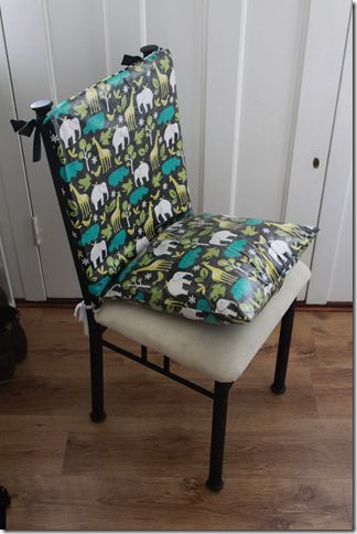 Dining Chair Booster Seat Tutorial. I think I need to make straps so he also doesn't slide off the chair. Been wanting to make something like this for the little man.