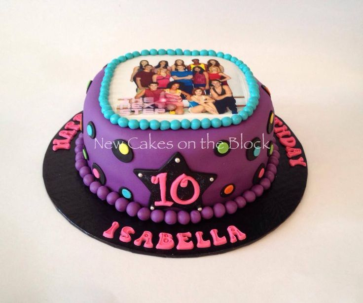dance - The Next Step TV show themed cake!
