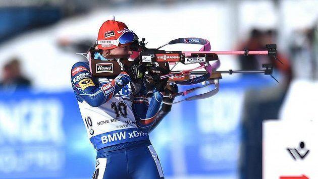 Veronika Vítková střílela v Holmenkollenu bezchybně.