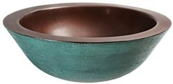 New! Verde Patina copper vessel sink would be really cool for a #southwestern bathroom!