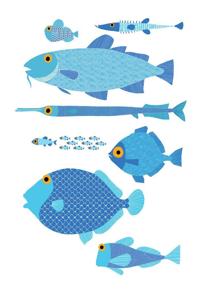 Comme des poissons dans l'eau!  Venez nous visiter en studio au Crackpot Café pour votre prochain projet de peinture sur céramique!
