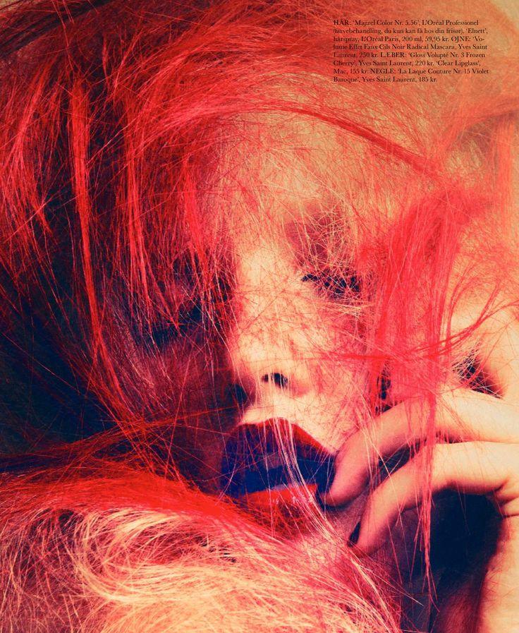 model: elise lou (lemanagement)  photographer: signe vilstrup (tomorrowmanagement)  stylist: johanne brostrom  hair: olivier lebrun  make-up: zenia jaeger (agenturcph)