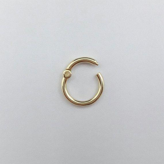 Septum Clicker Clicker 14k Nose Ring Septum Ring Etsy Septum Rings Clicker Solid Gold Nose Ring Gold Nose Rings
