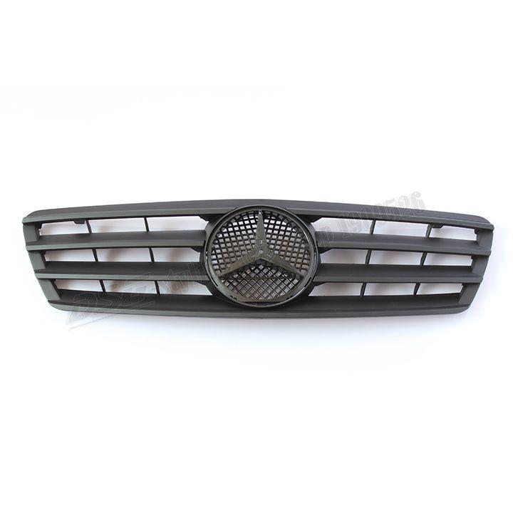 Matte Black Mercedes W203 ABS Front Bumper Grill Grille for 00 06 W203 4 Door Sedan C180 C200 C220 C240 C270 C280 C320 C350