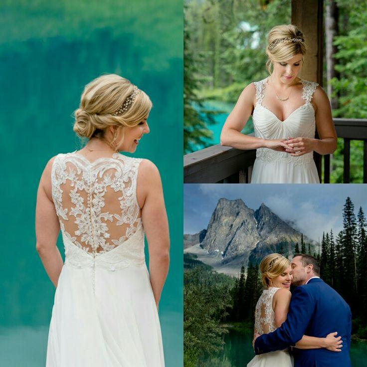 Beautiful Bride from Emerald Lake Wedding. Bridal hairstyle.