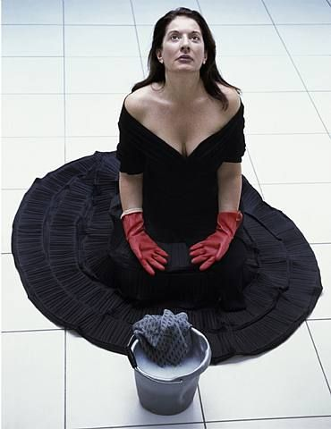 Cleaning the House by Marina Abramović  I used this in my visual thinking project!!