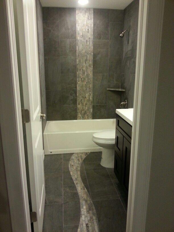 Bathroom tile waterfall design
