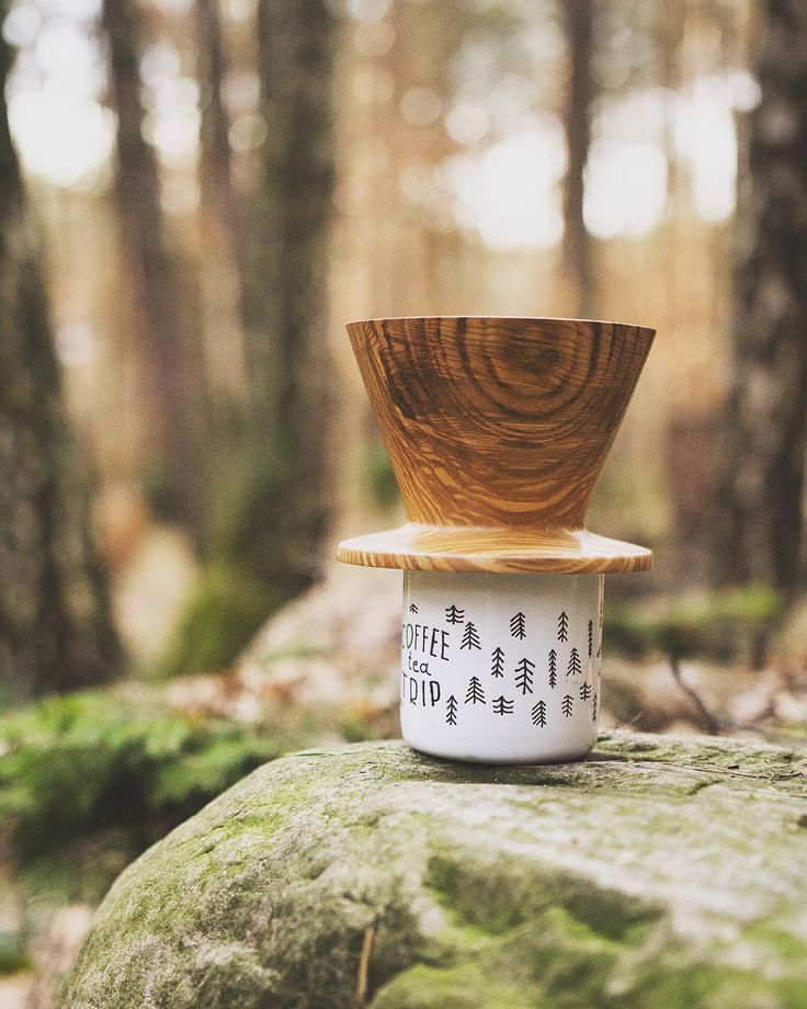 wooden coffee dripper - drip