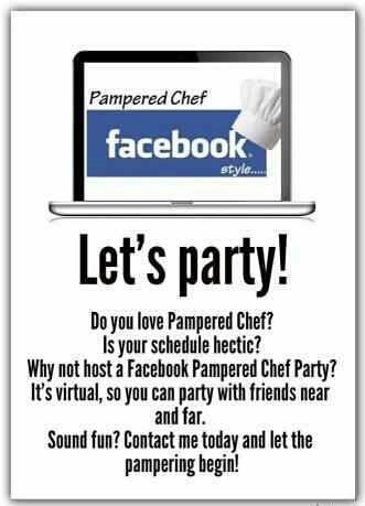 Let's do a Pampered Chef Facebook Party!!!! Contact me for details! Macampbell8414@gmail.com. Instagram: Mere_PChef. Please visit my website! https://www.pamperedchef.com/pws/merec .
