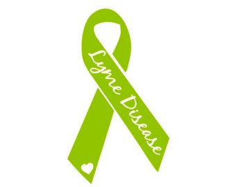 Lyme disease Ribbon 7/8 lyme disease grosgrain ribbon lyme