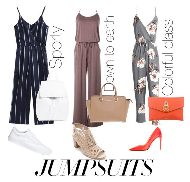 """""""Jumpsuit whenever"""" by inauniqe on Polyvore featuring Kim Rogers, Vans, Carlo Pazolini, Michael Kors, Mulberry and jumpsuits"""