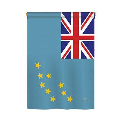TwoGroupFlagCo Tuvalu 2-Sided Vertical Flag Size: