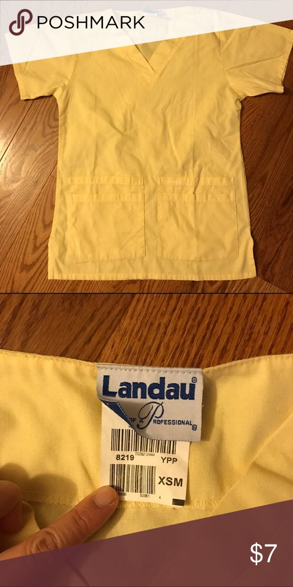 Landau Scrub Top XS - Sunshine Yellow Landau Scrub Top XS - Sunshine Yellow. 4 front pockets. Bundle for savings! Landau Tops