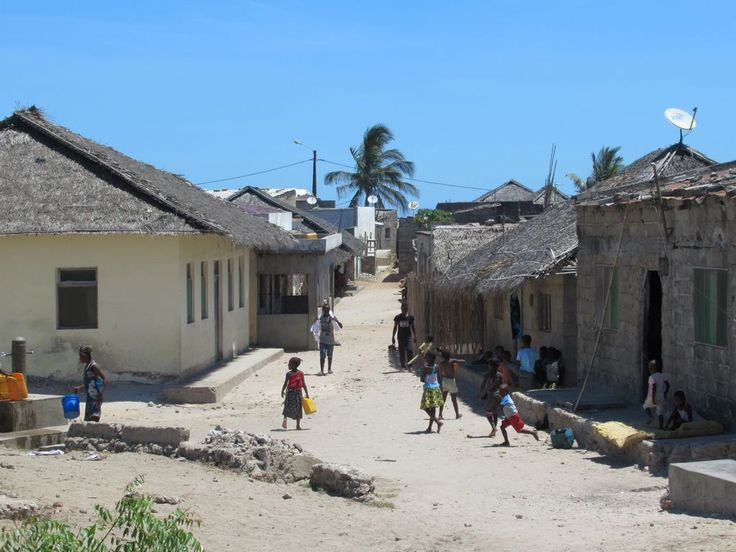 Thatched houses are the norm in Makuti Town in the southern part of Mozambique Island. Much of the population earns its livelihood from fishing.