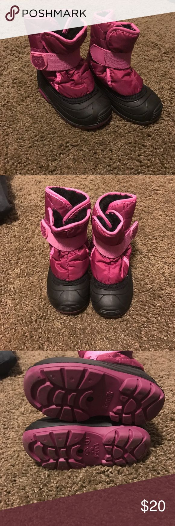 Kamik pink snow boots Snow boots only worn twice. Kamik Shoes Rain & Snow Boots