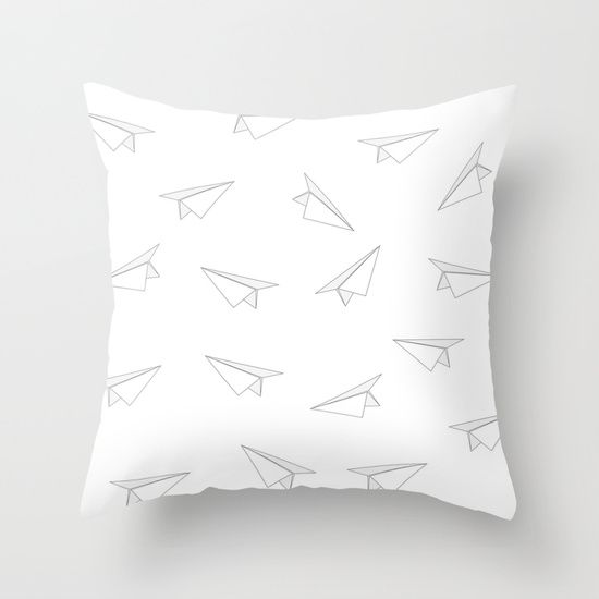 Paper Airplanes Pillow #society6 #pillows