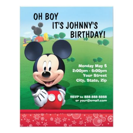 Mickey Mouse Birthday Invitation - tap to personalize and get yours