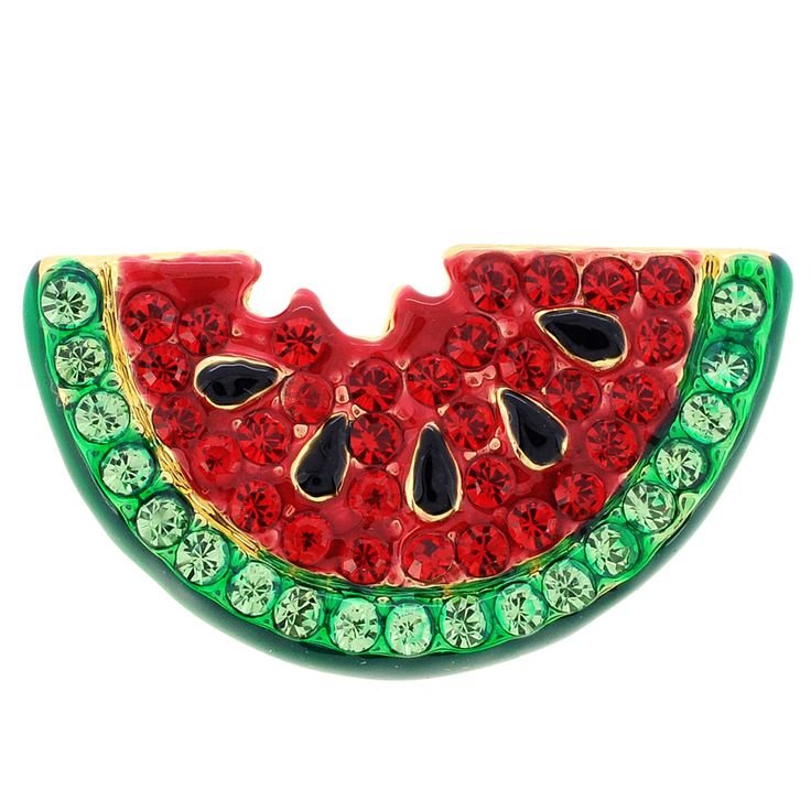 Red Watermelon Swarovski Crystal Pin Brooch