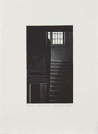 Jukka Vänttinen: Efter regnet, 2004,  mezzotint, 35x26 cm, edition 13/295 - Stockholms Auktionsverk 5/2016