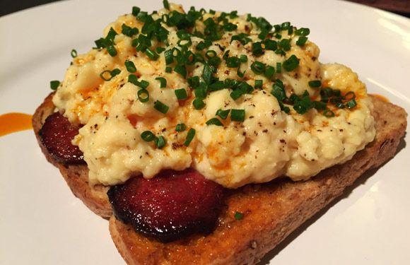 How to make Heston Blumenthal's Chorizo and Sous Vide Scrambled Eggs breakfast recipe