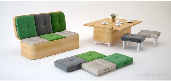 Сonvertible sofa by Julia Kononenko, via Behance