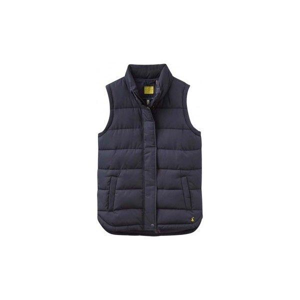 Joules Eastleigh Ladies Gilet (V) Cardigans (£65) ❤ liked on Polyvore featuring tops, cardigans, blue, women, blue cardigan, joules tops, cardigan top and blue top