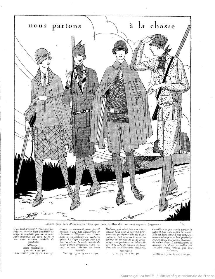 Tenues de chasse Aout 1927 La Femme de France