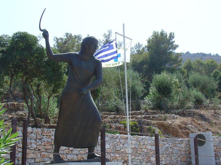 Grecja niepokorna: pomnik kobiety maniockiej
