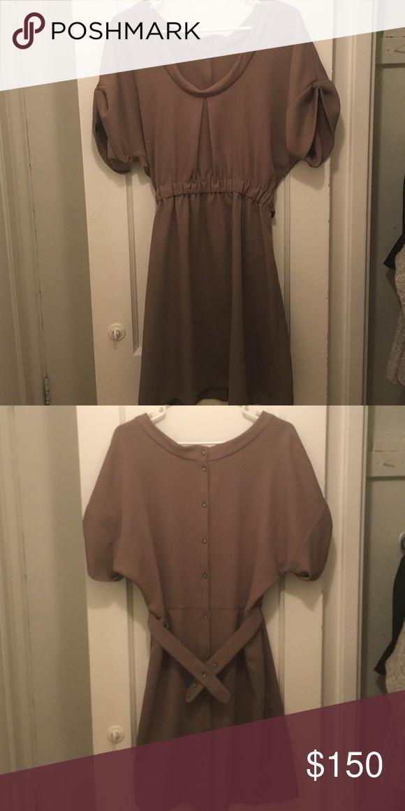 Rachel Comey tan belted dress Tan belted dress, button-back, size 4, never worn Rachel Comey Dresses