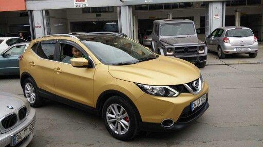 Nissan Qashqai mat gold kaplama. (0212) 286 48 43 www.autovizyon.com