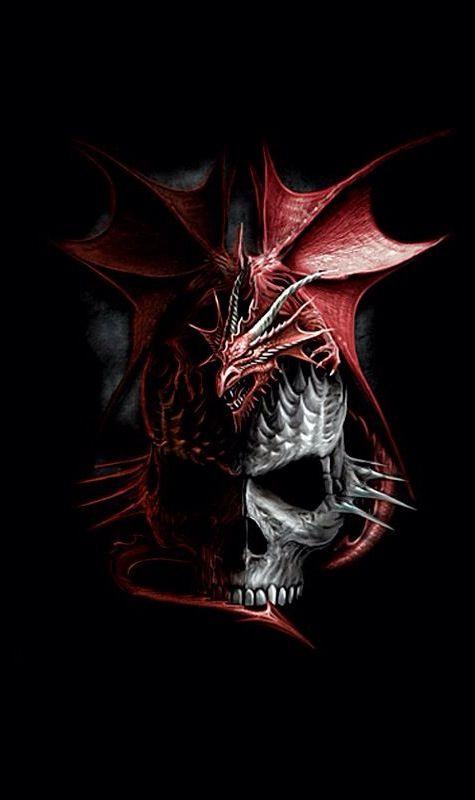 Dragon calavera | Parca, Reaper, Calaveras, Skull, Death, Muerte ...