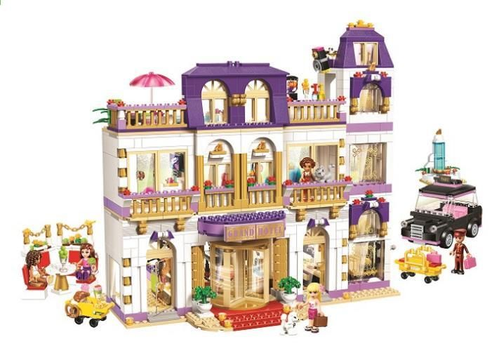 2017 Nové Dívky Toy Dream Friends Series Srdce Lake City Hotel Modelové Stavební Bloky Kompatibilní S Lepin Bri New Girl Toys Building Blocks Kids Lego Friends