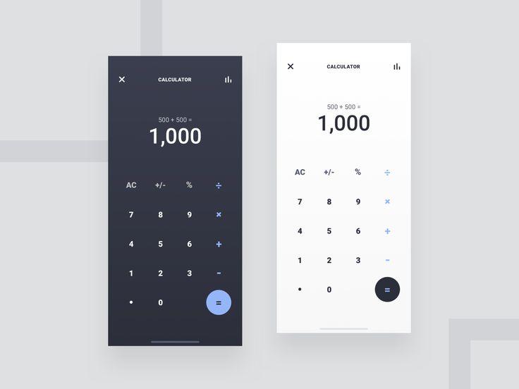 Calculator App Light Dark Calculator App Light In The Dark Calculator