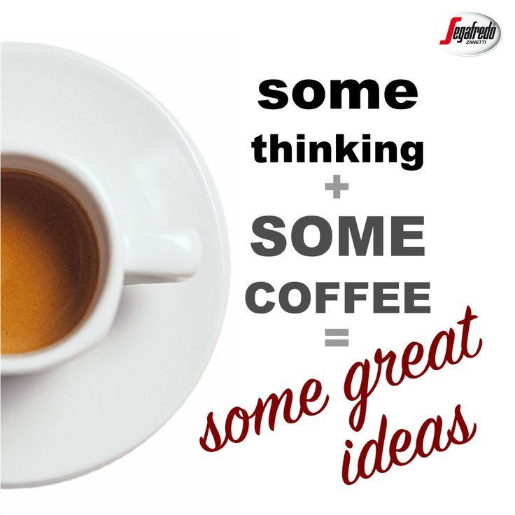 Narzekacie na brak motywacji? Pamiętajcie, że dobre pomysły pojawiają się dopiero po pierwszej, porannej kawie :) #Segafredo #PorannaKawa #KawowePobudzenie #KawoweCytaty