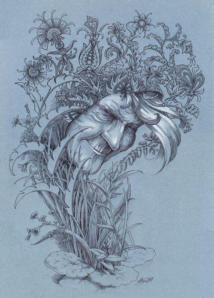 folk-tale / pen&ink / graphic art