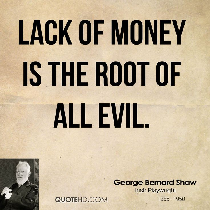 Essay about money is the root of evil