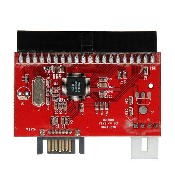 Specification: Plugging directly into your Hard Driver's IDE port The other side plug to motherboard's SATA socket Support the Serial ATA transfer rate of 1.5Gb/s (150MB/s) Plugging directly into Hard Driver's IDE port Compliant With Serial ATA 1.0 Specification Compatible...