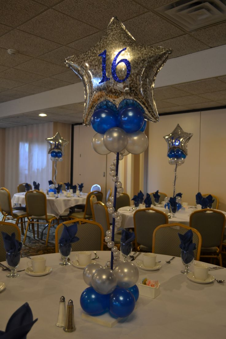 159 best images about star moonlight on pinterest for Balloon decoration ideas for sweet 16