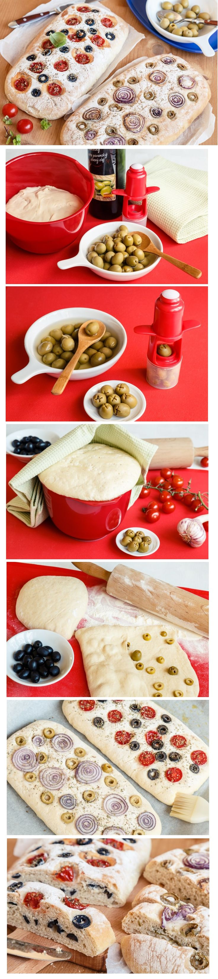 Ciabatta patří ke klasickým přílohám, které Italové kombinují s nejrůznějšími jídly. Jedná se o kynutý bílý chléb z hladké mouky a na jeho upečení není nic složitého. Vyzkoušejte verzi s olivami a na jejich vypeckování použijte náš vypeckovávač.