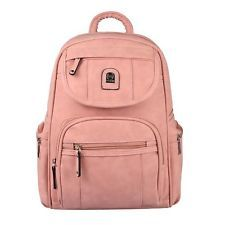 Photo of WOMEN'S BACKPACK City Backpack Bag City Backpack Backpack Leather Optic Daypack: E …