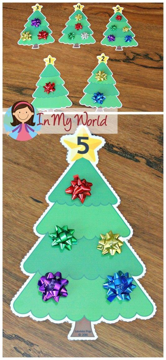 FREE Christmas Preschool Centers Christmas tree counting