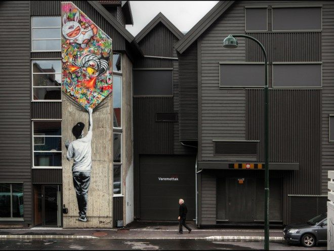 A scene from Nuart in 2014. (Picture: Ian Cox)