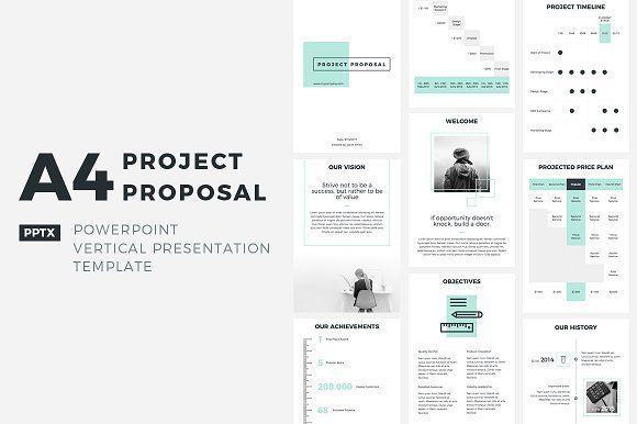 A4 Project Proposal Powerpoint Ideas Para Propuestas Powerpoint