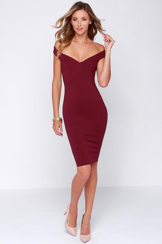 f84e0577863 Exclusive X Marks the Spot Burgundy Midi Dress
