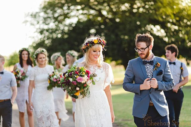 { Naomi Rose Floral Design } Boho wedding | Sheehan Studios Photography | Wedding | Tipi wedding | Flower crown | Boho bouquet